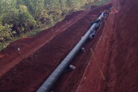 Inspecao de duto de gas natural